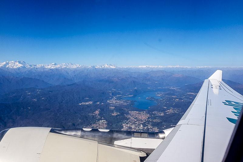 Alitalia, departure from Milano Malpensa